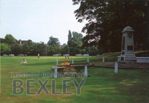 PCD_770 The Green and Memorial, Sidcup c.1980