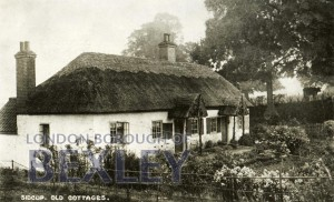 PCD_888 Sidcup, Old Cottages c.1910