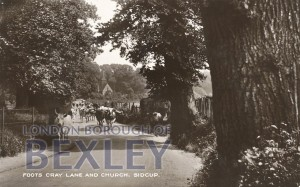 PCD_899 Foots Cray Lane and Church, Sidcup c.1910
