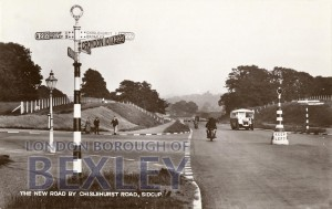 PCD_913 The New Road by Chislehurst Road, Sidcup c.1935