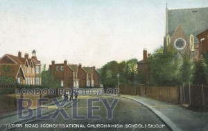 PCD_935 Station Road (Congregational Church & High School) Sidcup 1908