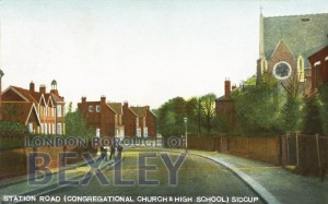 PCD_952 Station Road (Congregational Church & High School) Sidcup 1908