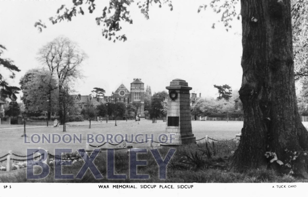 War Memorial, Sidcup Place, Sidcup c.1970