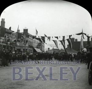 PHBOS_2_807 Bexleyheath Gala parade in Market Place, Bexleyheath 1899