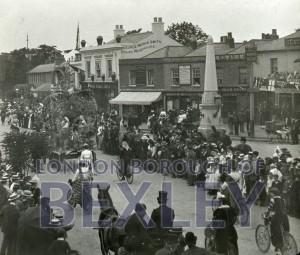 PHBOS_2_814 Bexleyheath Gala parade in Market Place, Bexleyheath 1899