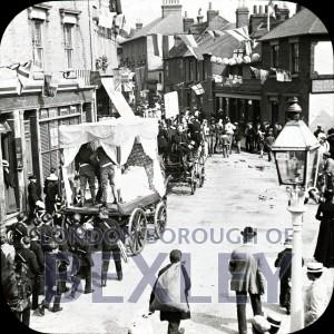 PHBOS_2_828 Bexley Gala procession, High Street, Bexley c1900