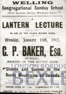 PHBOS_2_895 Poster for lantern lecture Welling Congregational Sunday School 1912