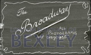 PHBOS_2_904 Title slide for 'The Broadway' lantern slide lecture by Boswellc1920