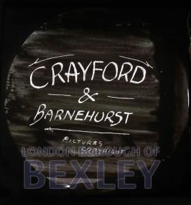 PHBOS_2_907 Boswell title slide for 'Crayford and Barnehurst' c1900