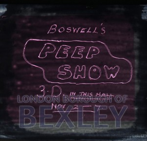 PHBOS_2_909 Title slide 'Boswell's Peep show' 3D c1900