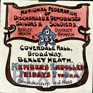 PHBOS_2_912 Poster for National Federation of discharged and demobilised soldiers c1920