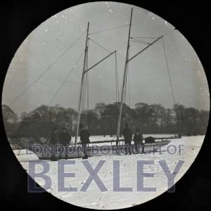 PHBOS_2_971 Danson lake in Danson Park, frozen 1890
