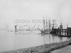 PHRBR_012  Sailing Ship Moored by Erith Ballast Wharf