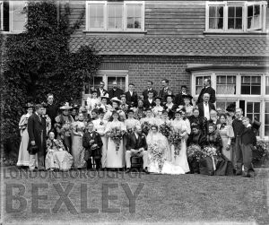 DEW012 Wedding Group, Sidcup c.1900
