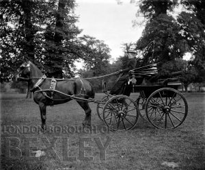 DEW050 Demi-Mail Phaeton (Sportiing Carriage) with Lady Driver c.1900