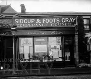 DEW057 Sidcup & Foots Cray Temperance Council, High Street, Sidcup c.1900