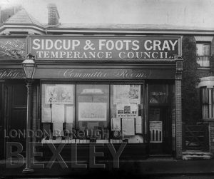 DEW058 Sidcup & Foots Cray Temperance Council, High Street, Sidcup c.1900
