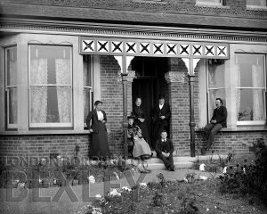 DEW102 Family Portrait at a House, Sidcup c.1900