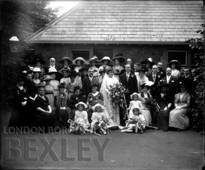 DEW113 Formal Family Wedding Portrait c.1900