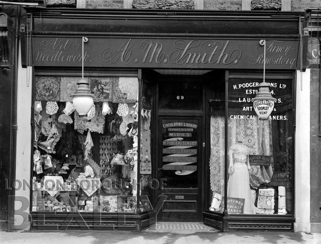 Two Shop Fronts, 69 High Street, Sidcup 1907