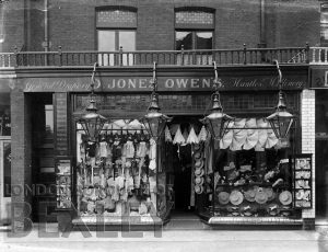 DEW158 Shop Front of D. Jones Owen, Dapers and Millinary High Street Sidcup c.1900