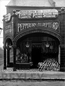 DEW172 Shop fornt of Peppercorn Brothers Provision Dealers, Deptford c.1900