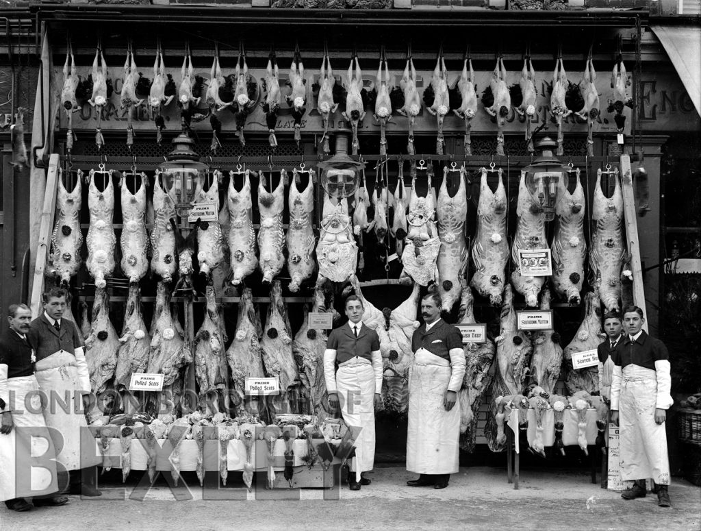 Shop Front of G. H. Godfrey Butchers, 65 High Street, Sidcup c.1900