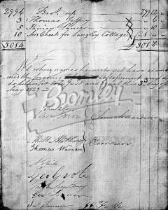 Church Accounts 1823, Beckenham 1823