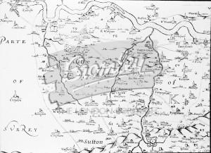 Symondson's Map of Kent 1595