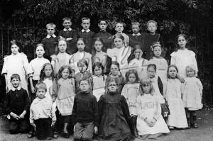 Group photo of children, West Wickham C 1900