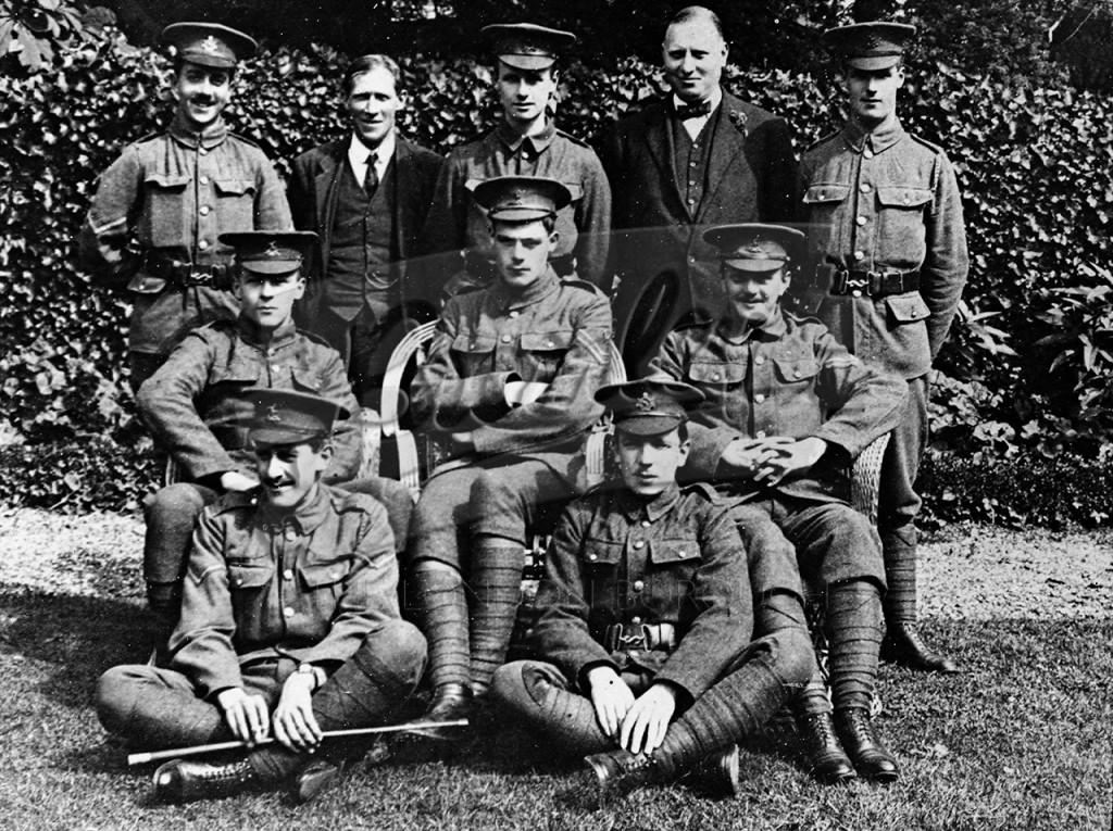 Group photo  of soldiers, West Wickham c.1914-18