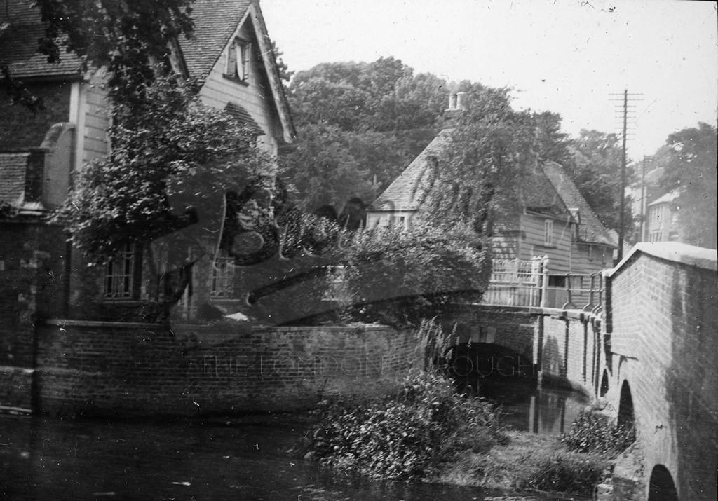 Kent village, river flowing ,  undated