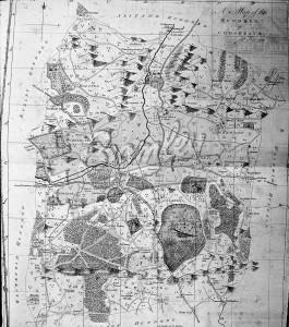 Knole Park and Sevenoaks map, 1778