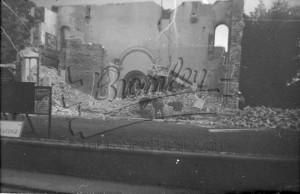 Bomb damage of building,  undated
