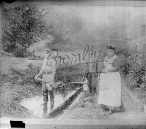 Removing Weeds from Ditch or pond,  1880s