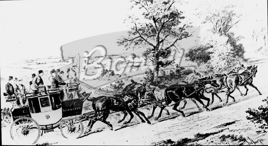 London to Sevenoaks & Tonbridge on River Hill, Sevenoaks 1890
