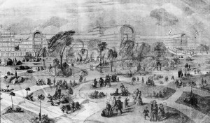 General view of Palace Grounds, Crystal Palace 1850s