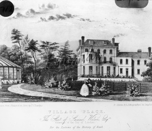 Village Place the seat of Samuel Wilson, Beckenham 1838
