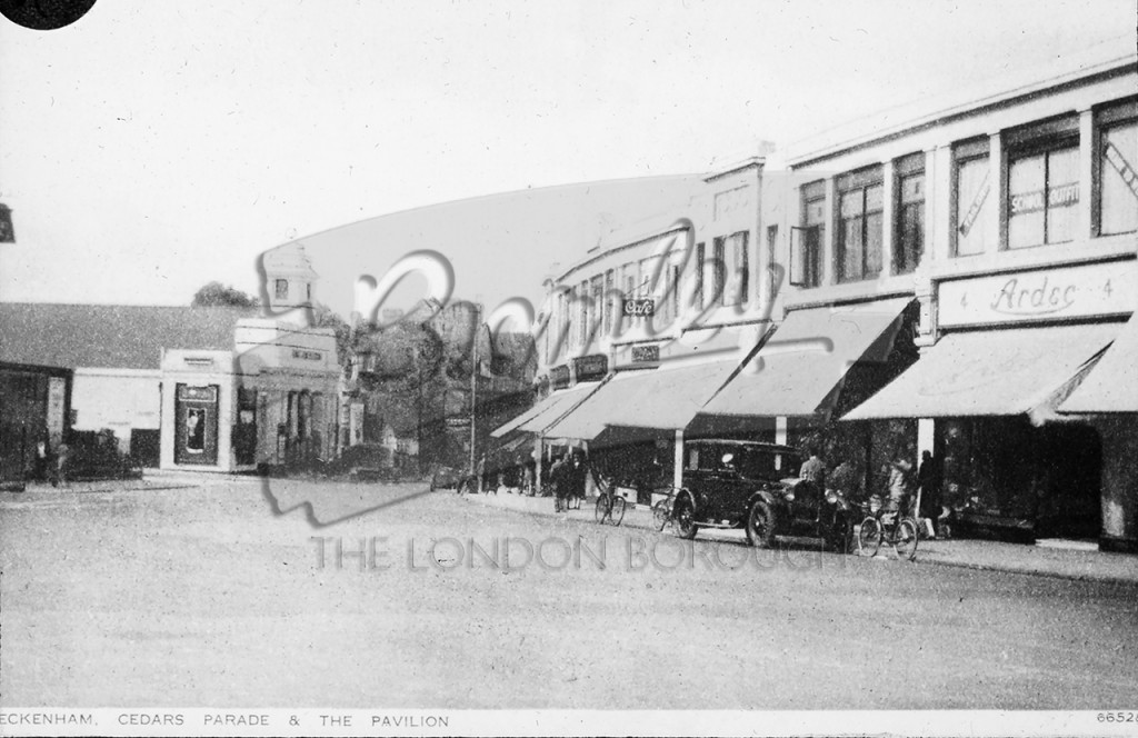 Cedars Parade and Pavilion Cinema, Beckenham 1926/7