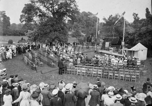 Recreation ground with open air performance,  1900s