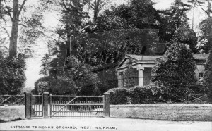 White Lodge at the entrance to Monks Orchard, West Wickham