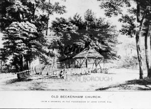 Old Beckenham Church, Beckenham 1880