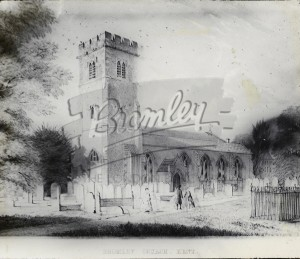 St Peters and St Paul's Church, Bromley, Bromley c.1850