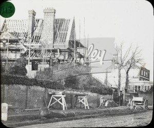 """The building of """"Ravensfell"""", High Street, Bromley, Bromley 1858"""
