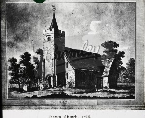 St Marys Church, Hayes, Hayes 1786