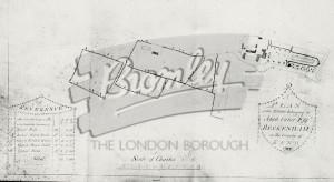 Plan of part of Cator's Estate, Beckenham 1782