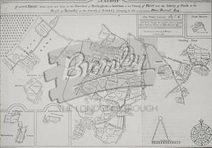 Survey of several estates belonging to Peter Burrell, Beckenham 1723