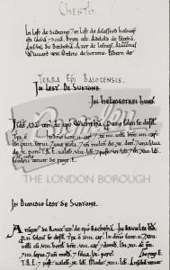 Domesday Book Entries, Beckenham 1086