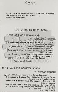 Domesday Book Translation, Beckenham 1086