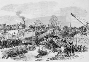 Etching of Railway Accident,